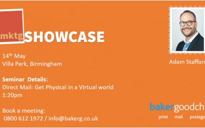 bakergoodchild to present at the Marketing Showcase Roadshow at Villa Park, Birmingham